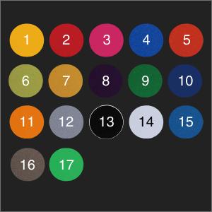 キャリパー17色選択可能